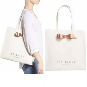 Ted Baker London Large White Bow Detail Icon Tote